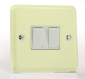 Varilight Pastel 2 Gang 10A 1 or 2 way Rocker Light Switch White Chocolate XY2W.WC